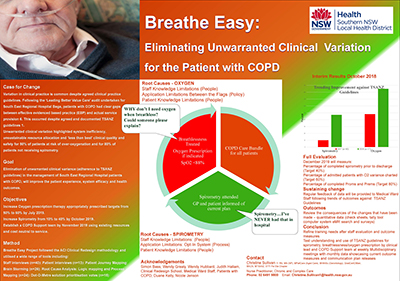 Breathe Easy: eliminating unwarranted clinical variation for patients with chronic obstructive pulmonary disease