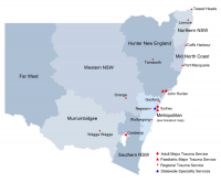 Map of NSW trauma services
