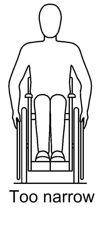 Seat width narrow