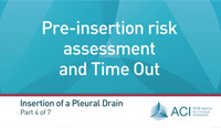 Part 4: Pre-insertion risk assessment and Time Out
