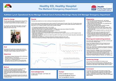 Healthy ED Healthy Hospital
