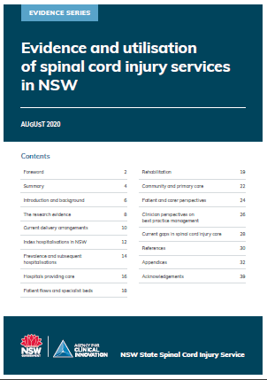 Evidence and utilisation of spinal cord injury services in NSW