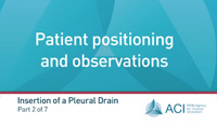 Part 2: Patient positioning and observations